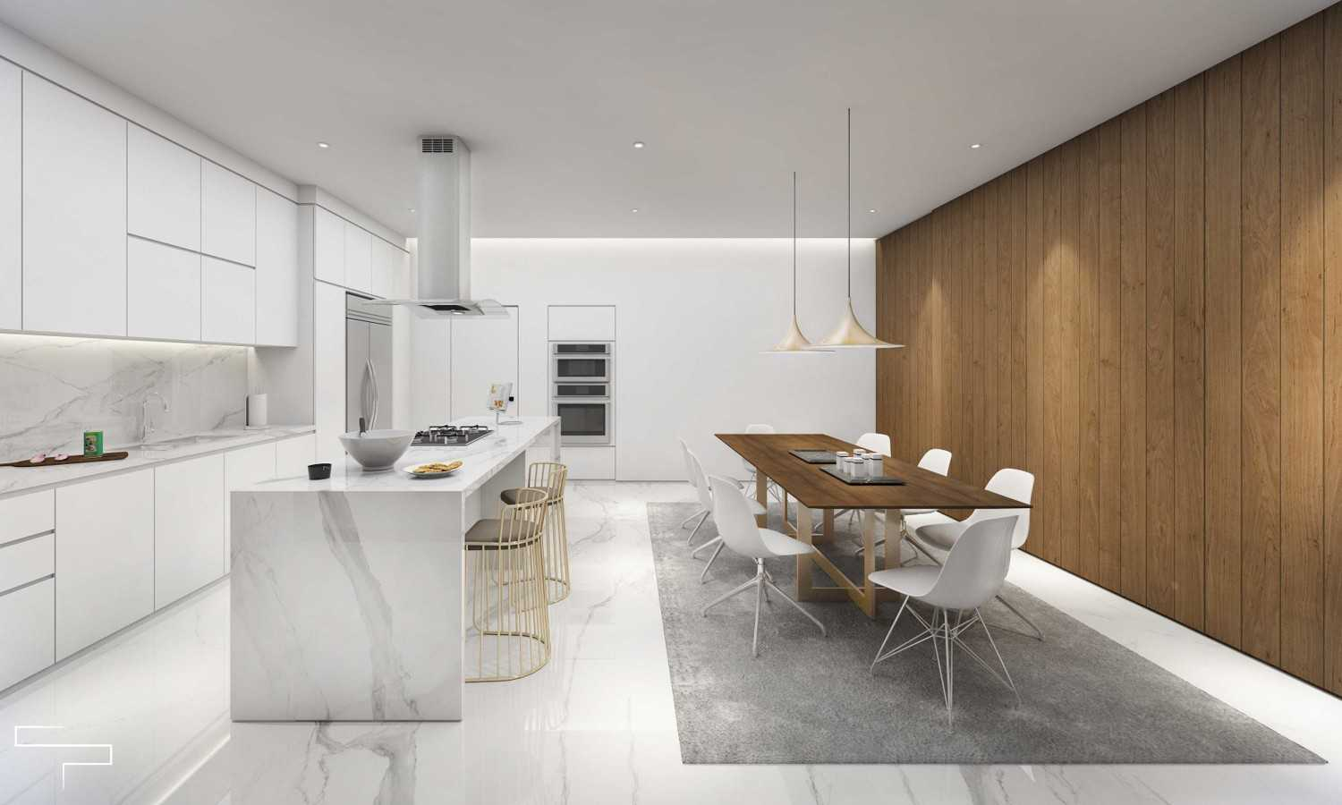 Foto inspirasi ide desain dapur kontemporer Kitchen and dining oleh Sontani Partners di Arsitag