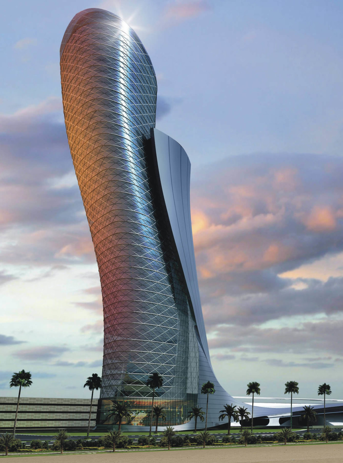 The Capital Gate Tower (Sumber: www.rmjm.com)