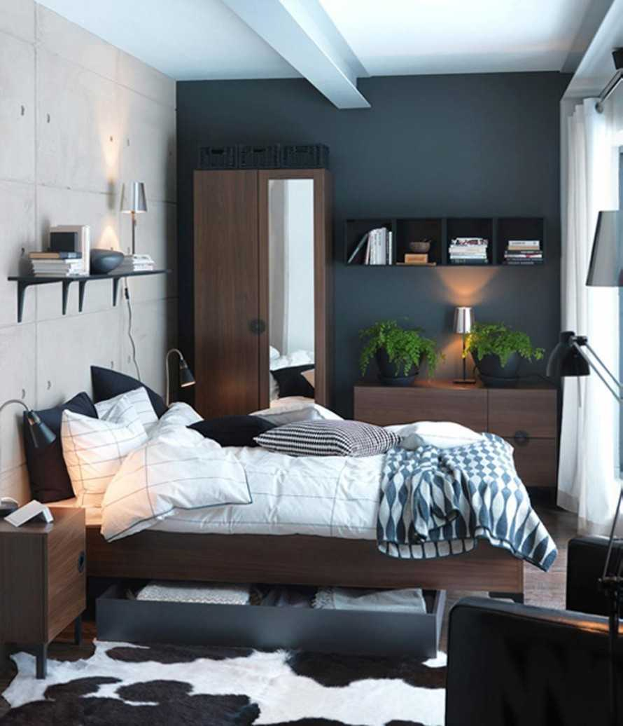 Interior Gray Painted Bedroom@Milch House